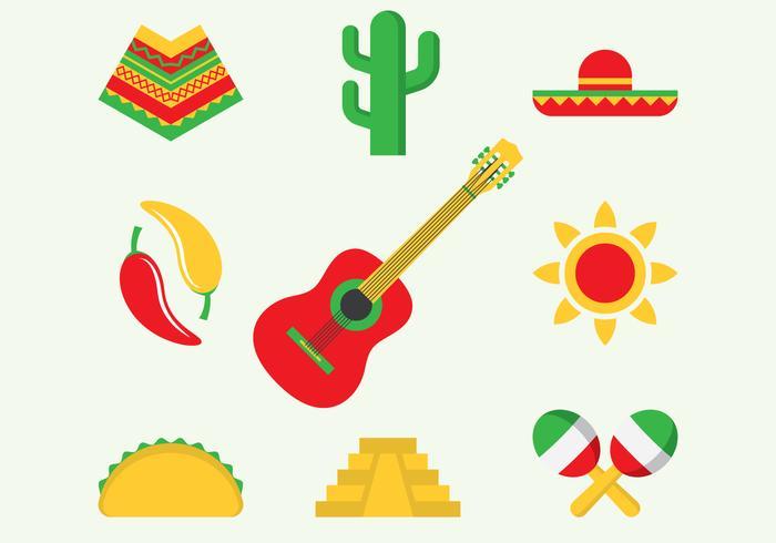 Icônes du Mexique vecteur