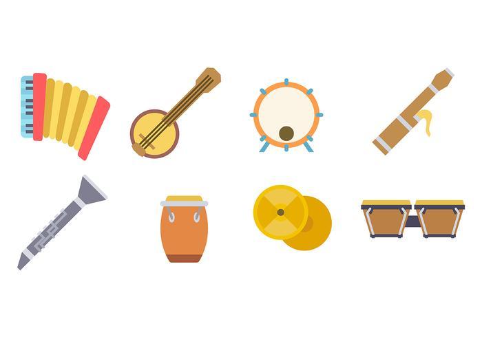 Instruments à musique Icon Vector