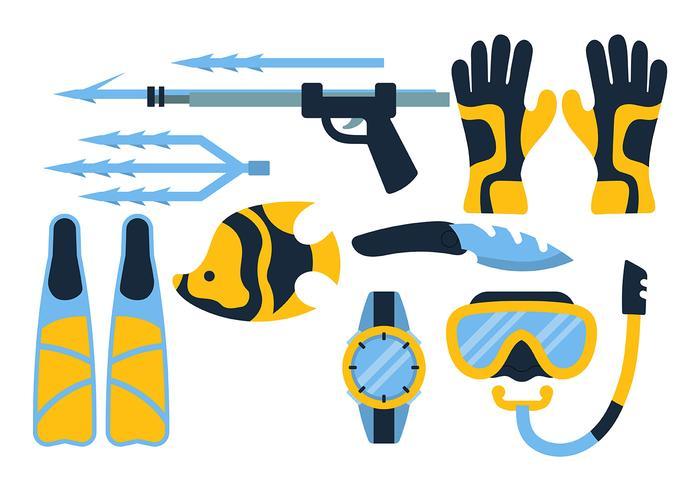 Vecteur d'icônes de pêche