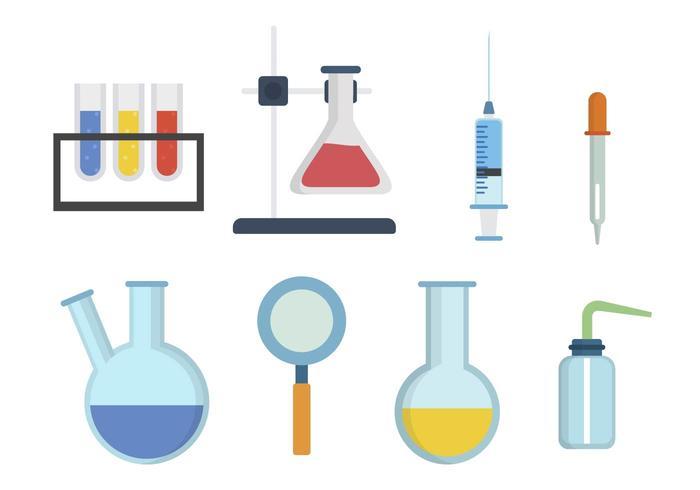 Vecteurs chimiques plats vecteur