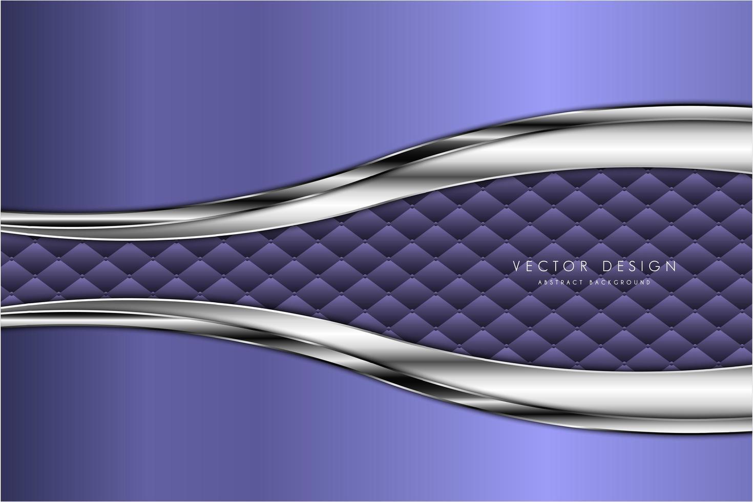 fond métallique moderne argent et violet vecteur