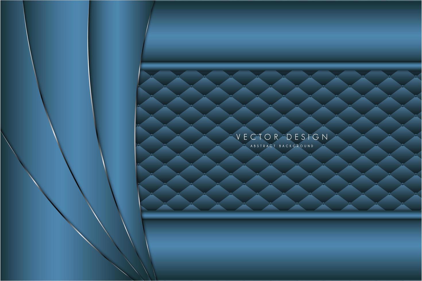 fond métallique moderne argent et bleu vecteur