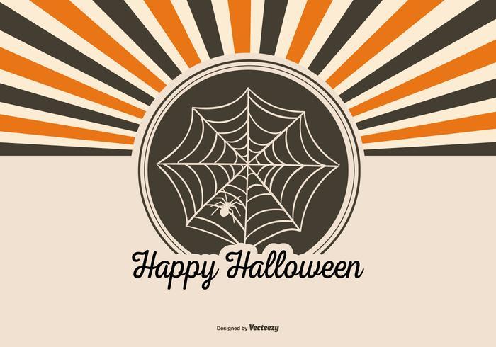 Fond rétro style Halloween vecteur
