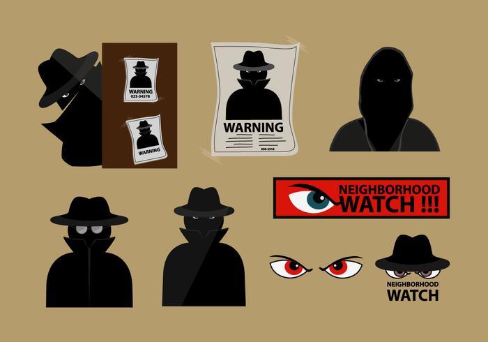 Vecteur de surveillance de quartier