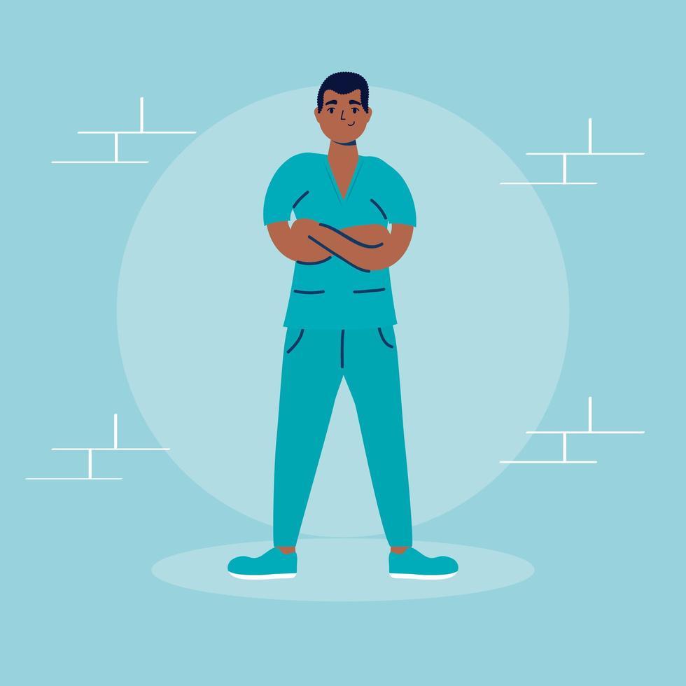 personnage avatar médecin chirurgien professionnel vecteur