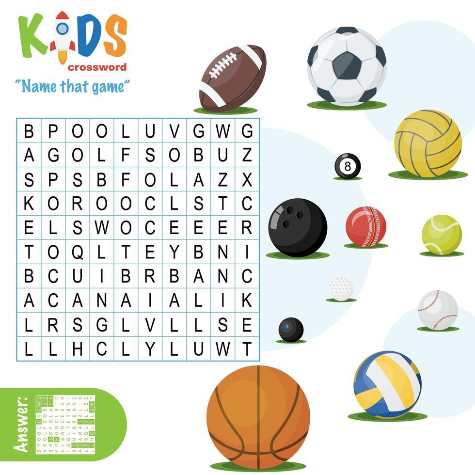 nom facile ce puzzle de recherche de mot de jeu vecteur