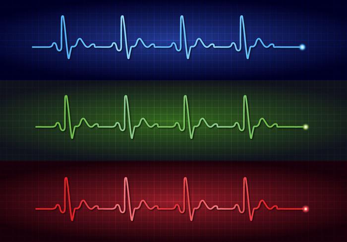 Vecteurs d'électrocardiogramme à impulsions cardiaques vecteur