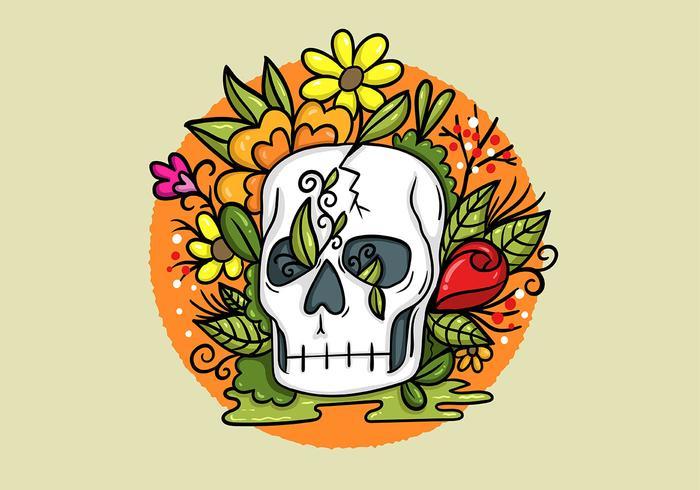 Fleurs de crâne vecteur
