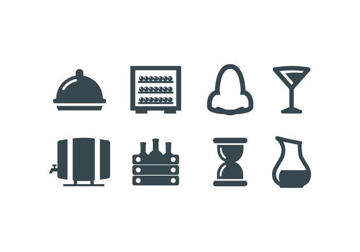icônes vectorielles set de vignoble vecteur