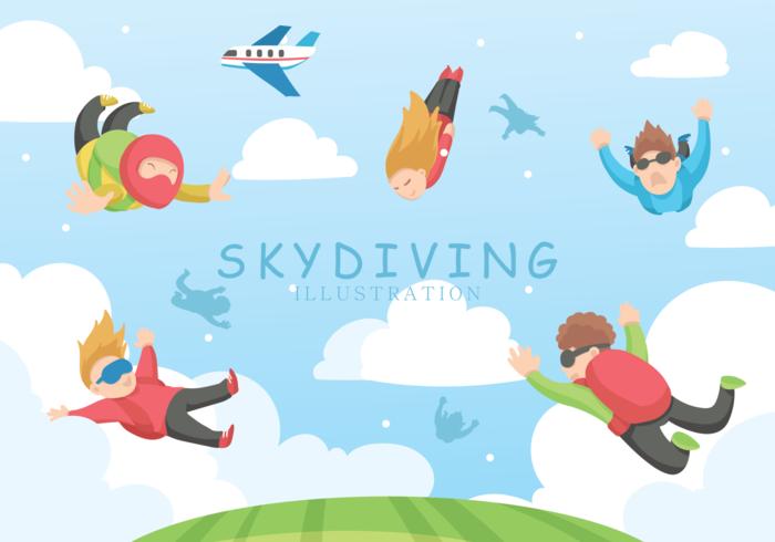 Illustration vectorielle de parachutisme vecteur