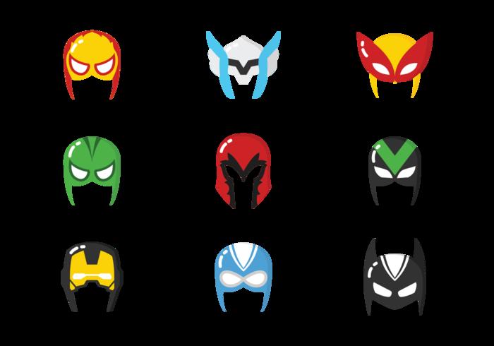 vecteurs de masques de superhéros vecteur