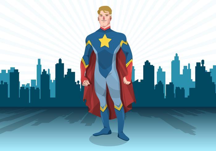 Vecteur de super-héros debout
