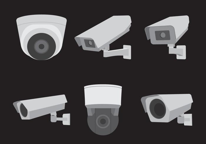 Ensemble de caméras CCTV vecteur