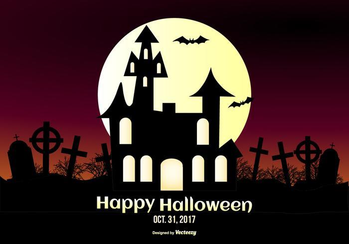 illustration horrible de Halloween vecteur