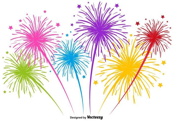 Illustration Multicolore De Feu D Artifice Vectorielle Telecharger Vectoriel Gratuit Clipart Graphique Vecteur Dessins Et Pictogramme Gratuit