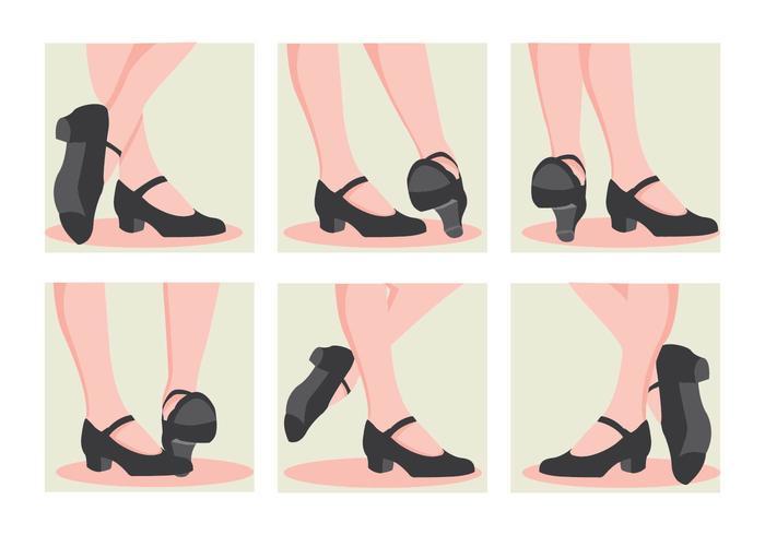 Tap Chaussures Talons vecteur