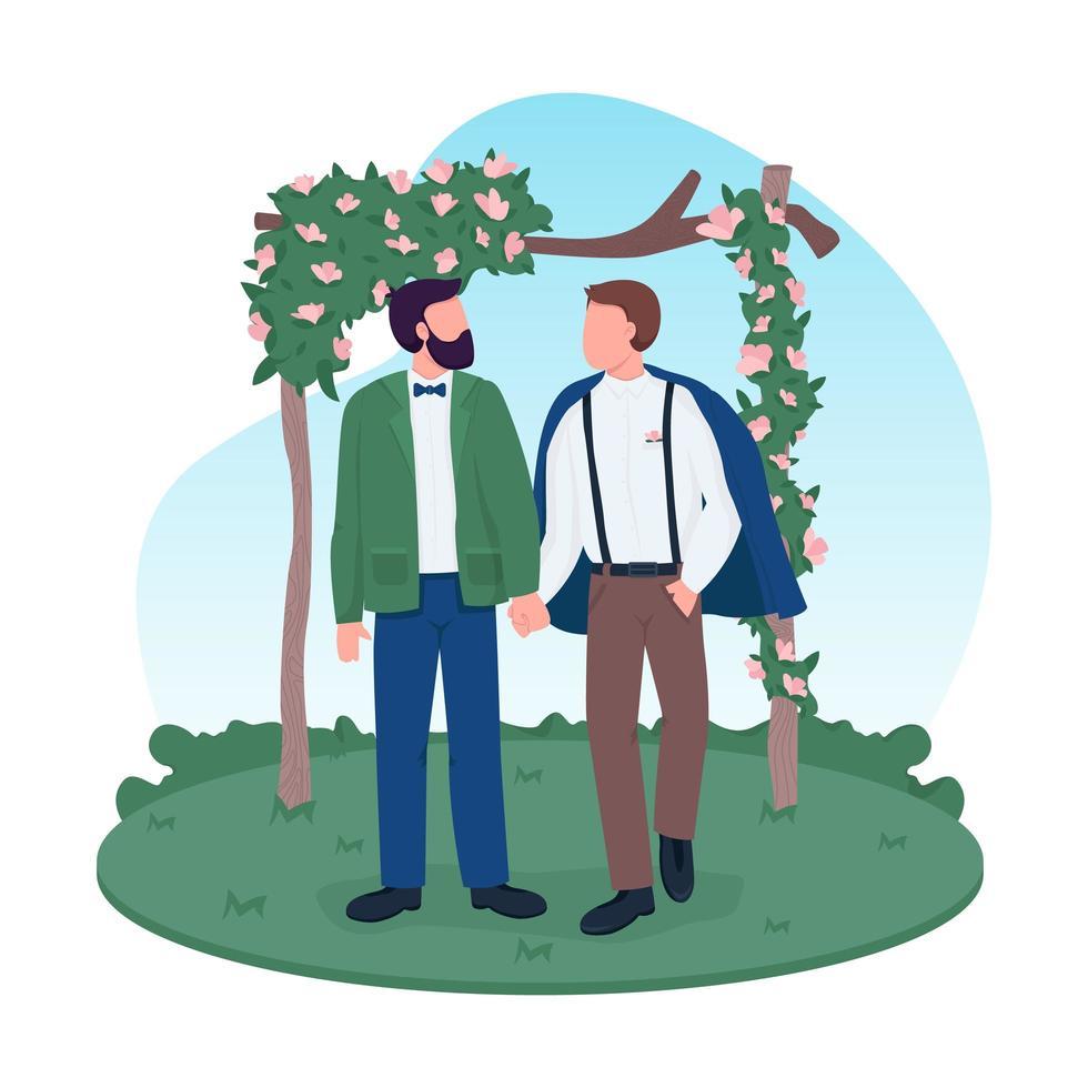 couple marié homosexuel vecteur