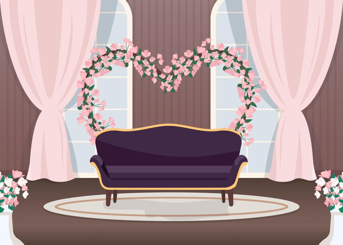 photozone de mariage élégant vecteur