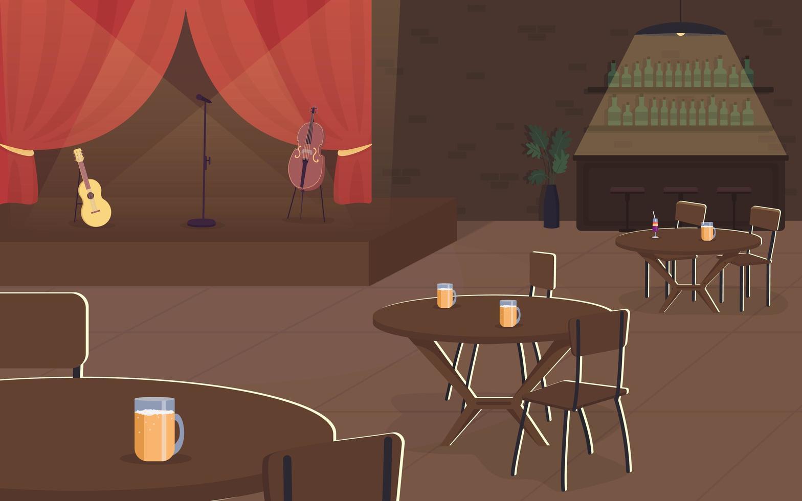 concert de musique dans un pub vecteur