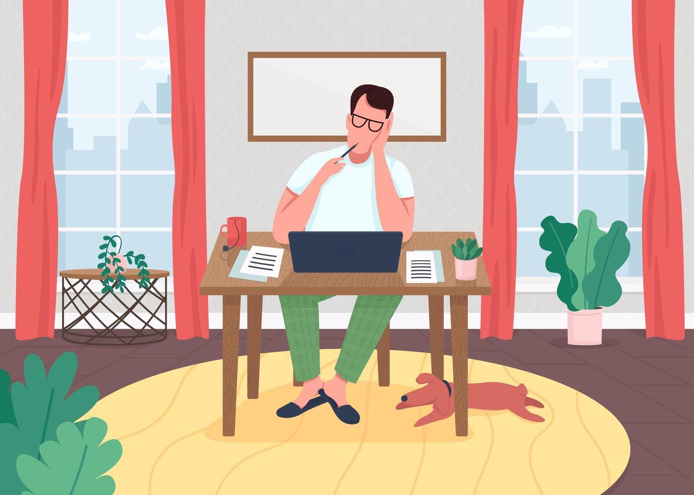 écrivain sur ordinateur portable vecteur