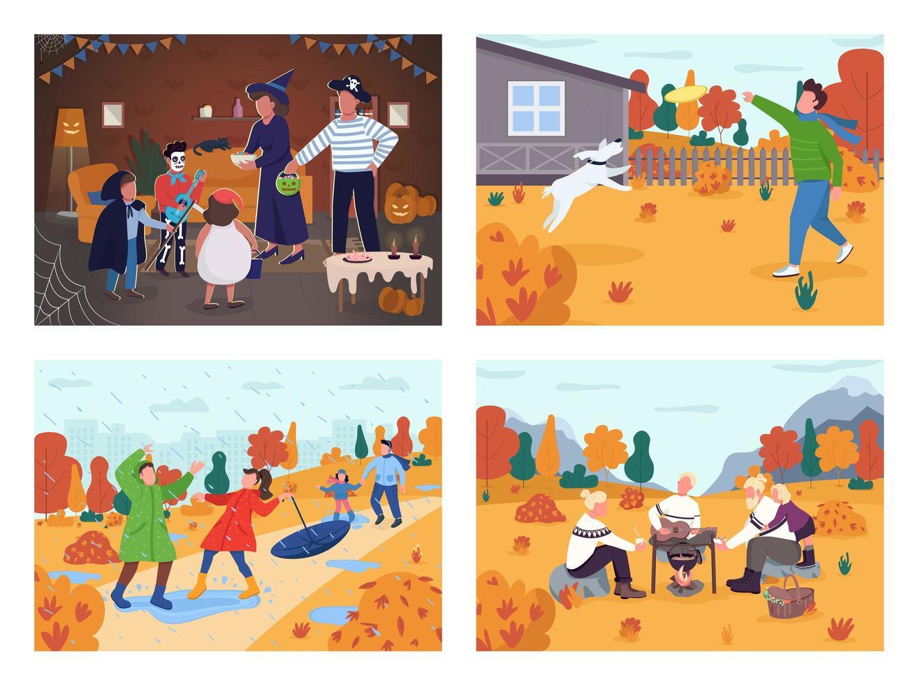 activité de vacances d'automne vecteur