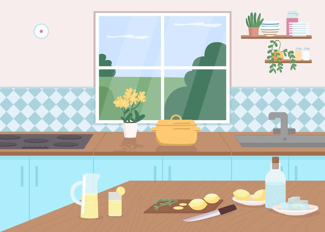 limonade de comptoir de cuisine vecteur
