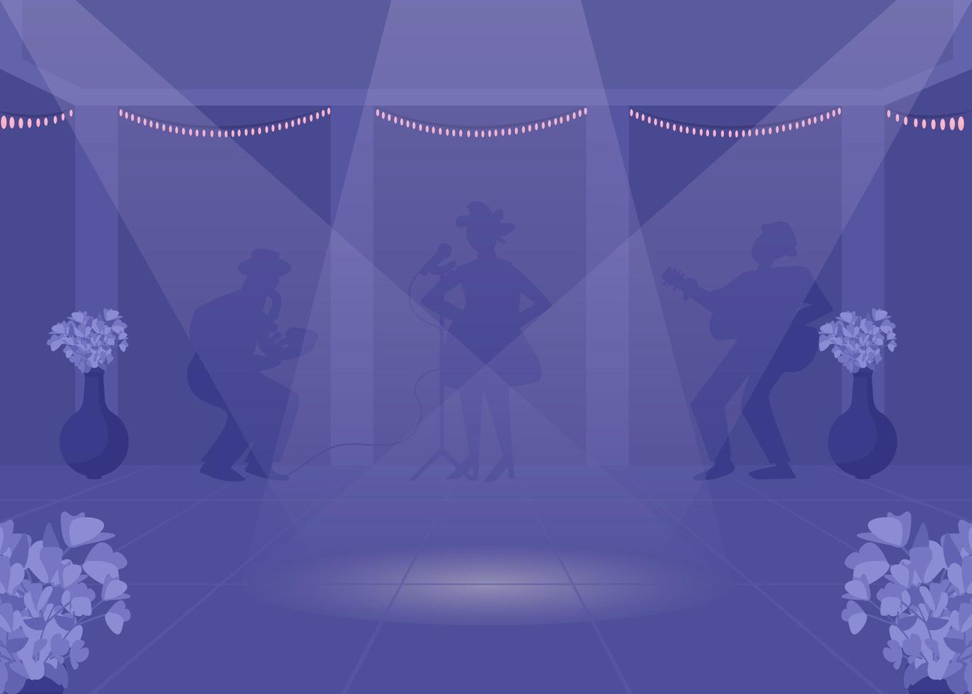piste de danse la nuit vecteur