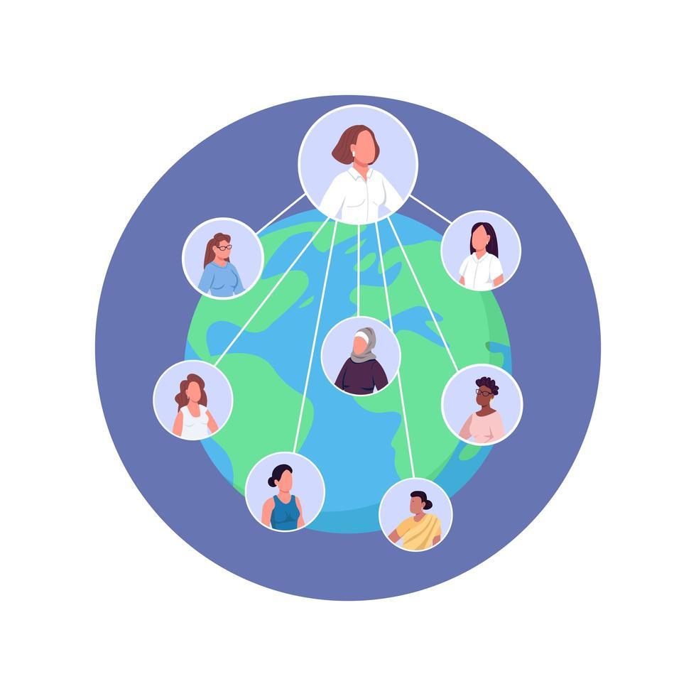 forum international des femmes vecteur