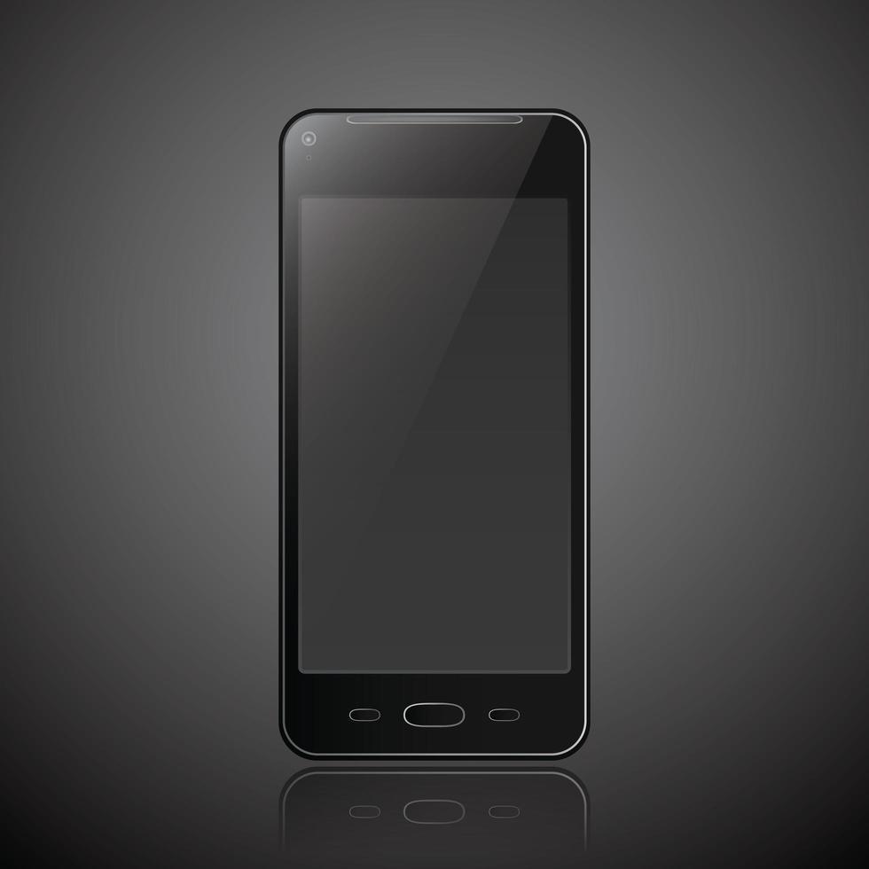 téléphone mobile smartphone style moderne isolé vecteur