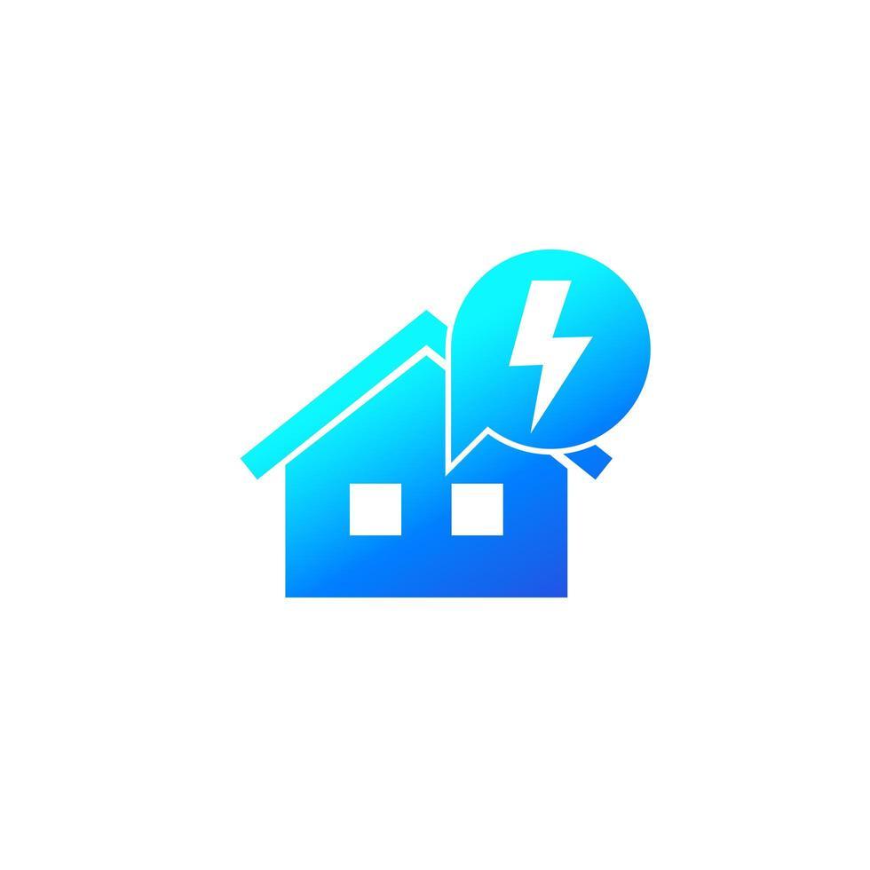 icône d & # 39; électricité avec maison vecteur