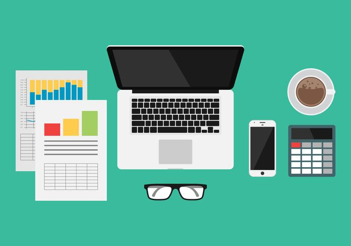 Illustration des outils de gestion d'entreprise vecteur