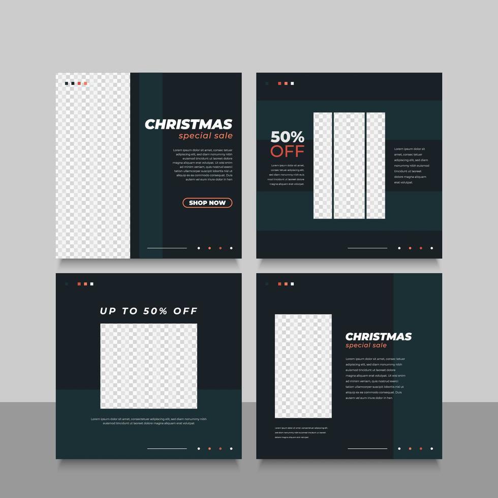 bannière de vente de Noël ou dépliant pour publicité sur les médias sociaux vecteur