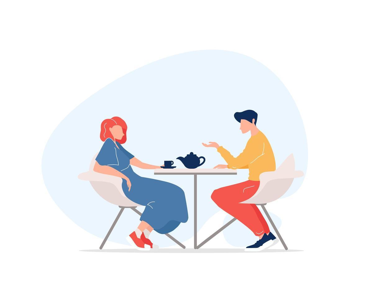 rencontre homme et femme vecteur
