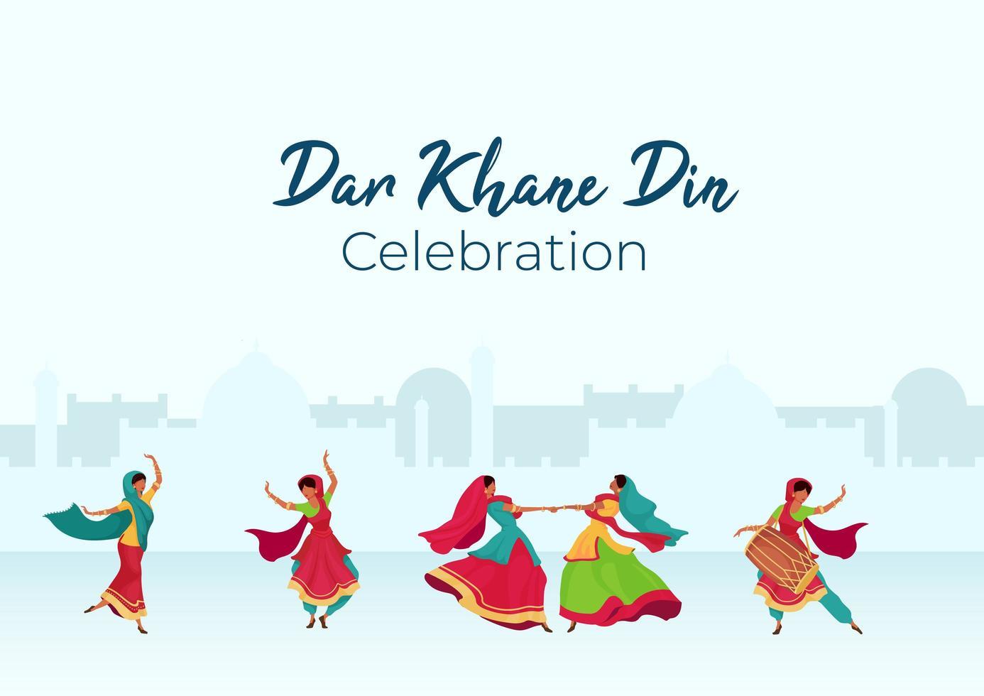 affiche de célébration de dar khane din vecteur
