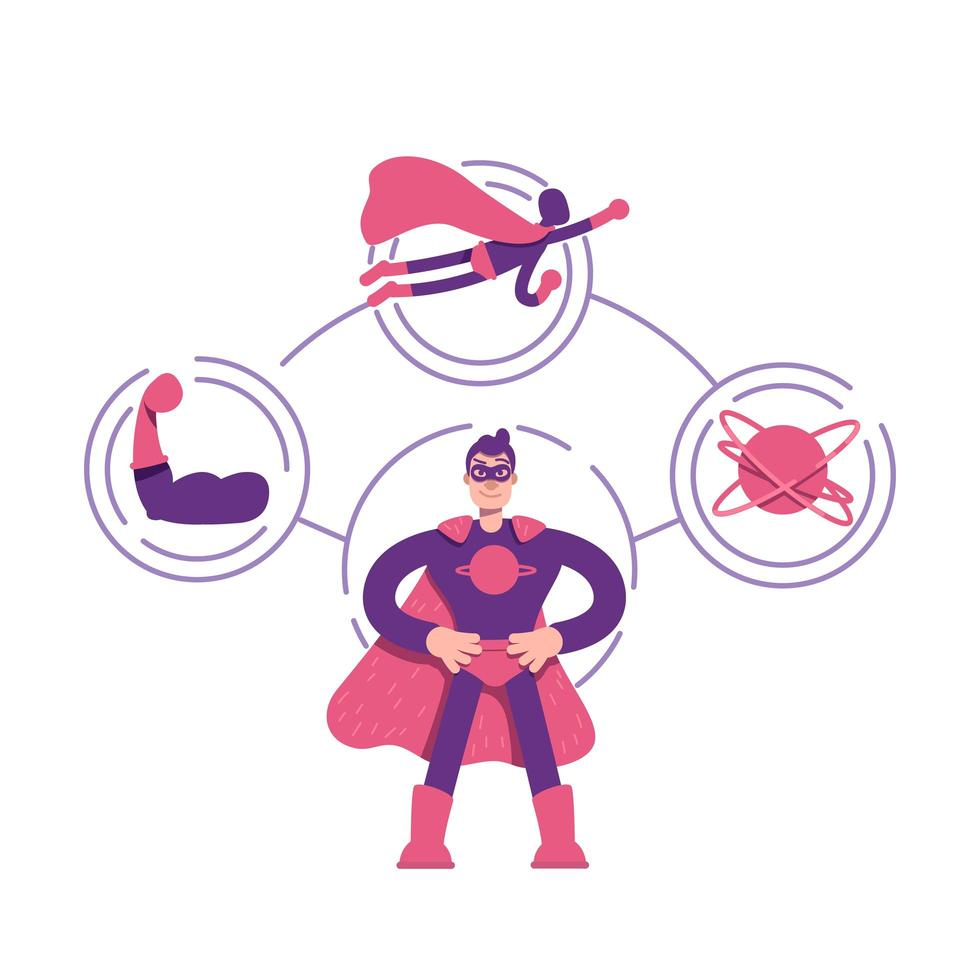 diagramme d'archétype de héros vecteur