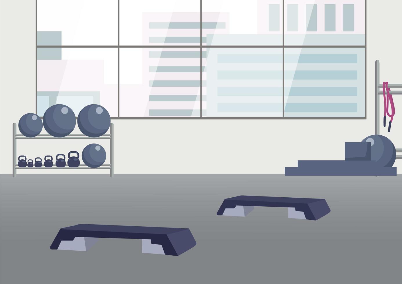 club de fitness vide vecteur