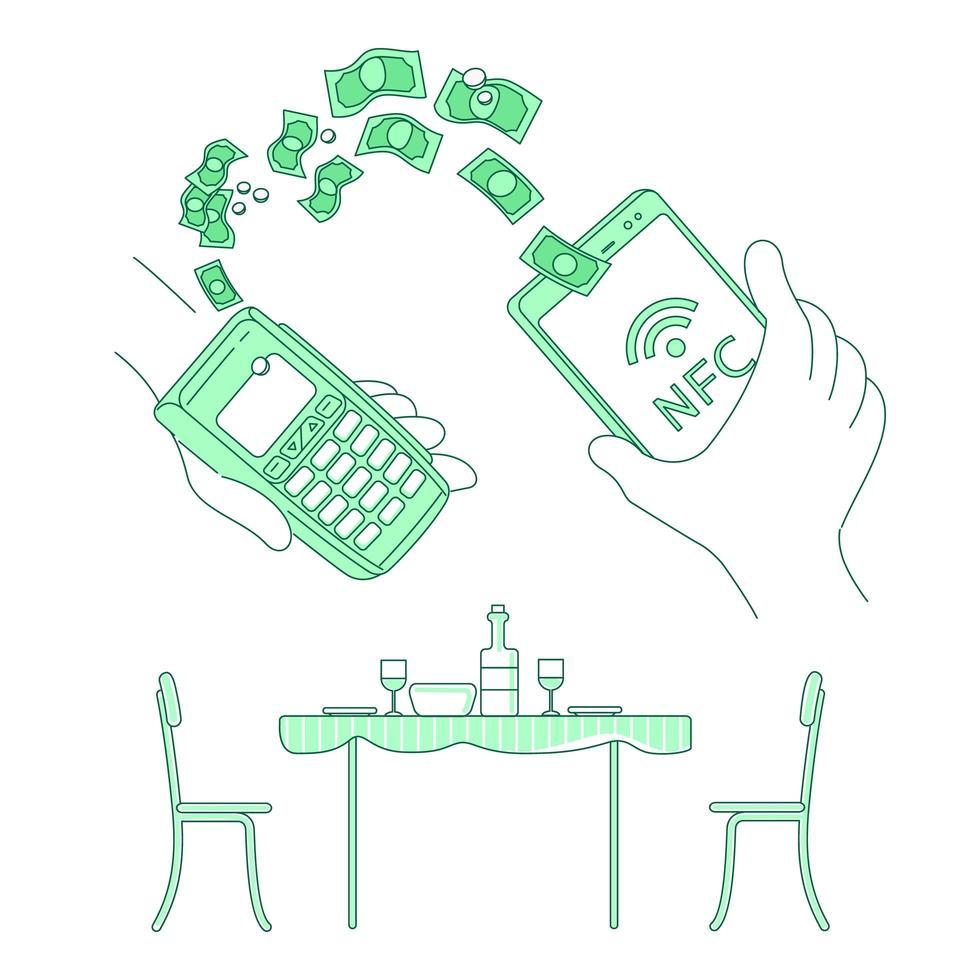 e-commerce portefeuille mobile vecteur
