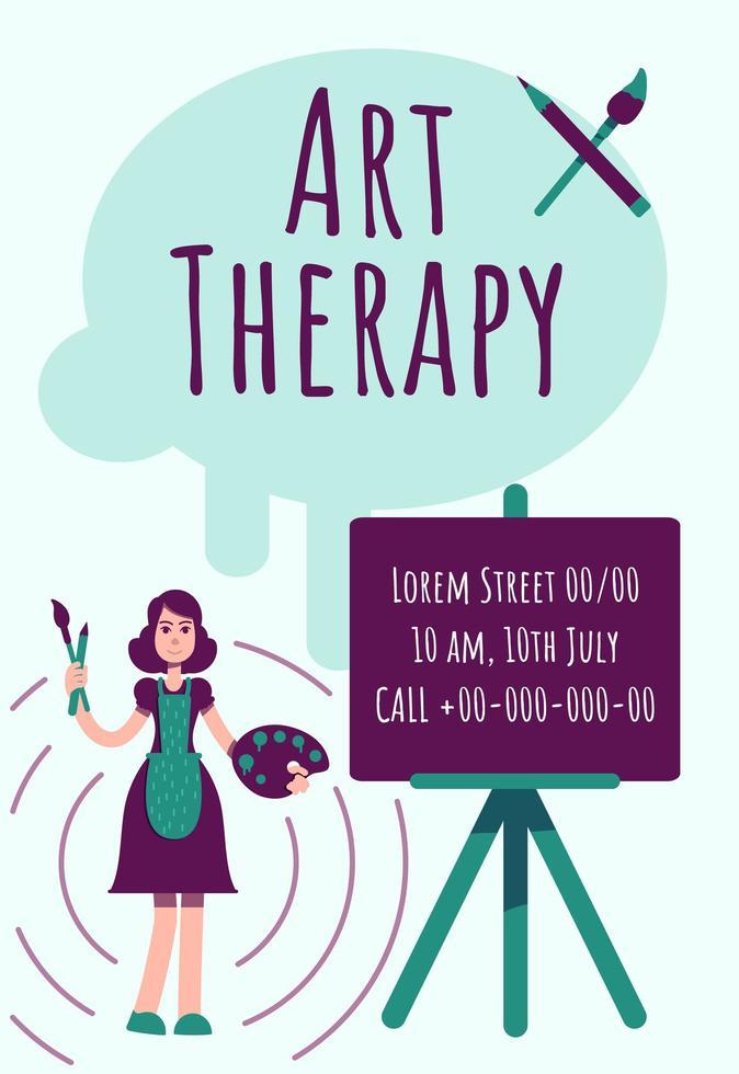 affiche d'art-thérapie vecteur