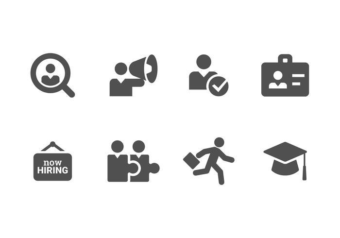 Maintenant embaucher et recruter Set Icons vecteur