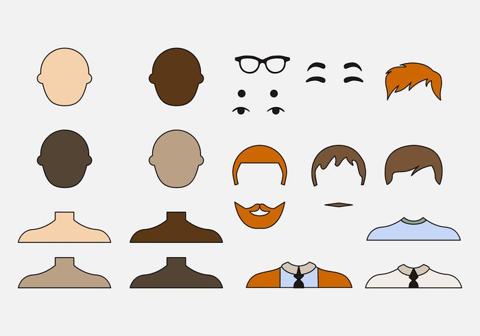 Vecteurs d'icônes pour les hommes créatifs vecteur