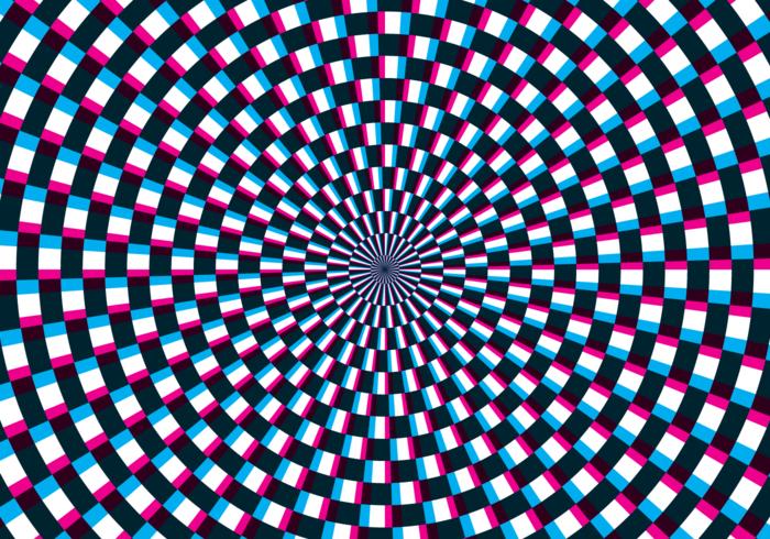 Illusion d'optique d'hypnose vecteur