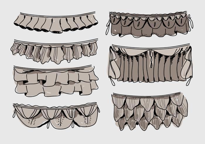 Frills Illustration vectorielle dessinés à la main vecteur