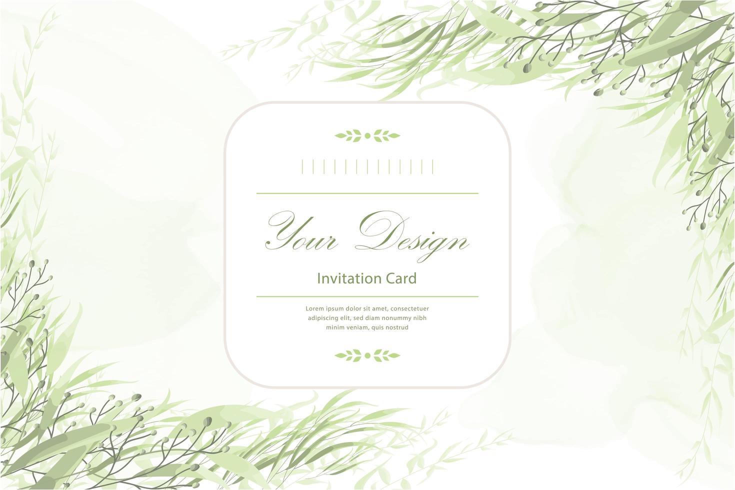 carte d'invitation florale vecteur