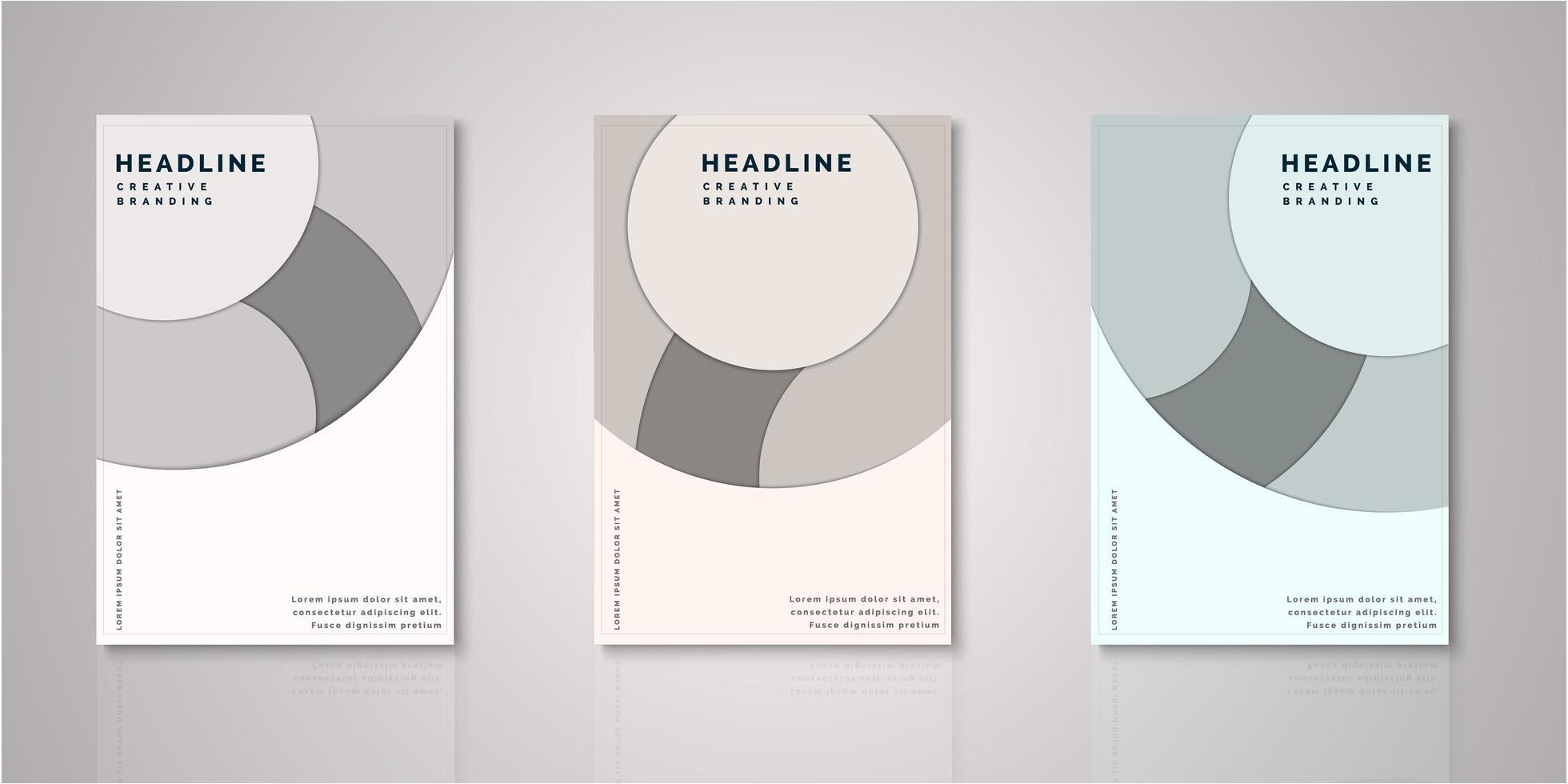 ensemble de couvertures de conception découpées en papier cercle vecteur
