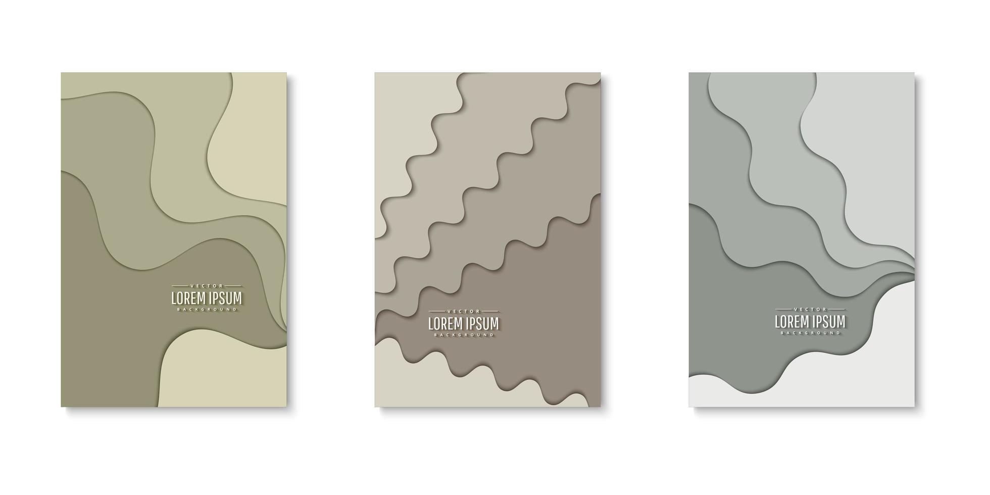 ensemble de couvertures de couches de papier ondulé vecteur