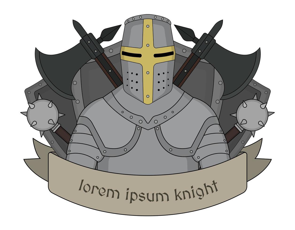 emblème de chevalier médiéval vecteur