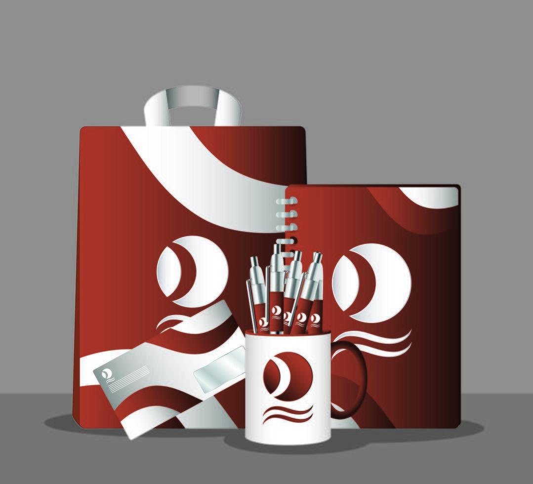 ensemble de maquette de marque et de marketing vecteur