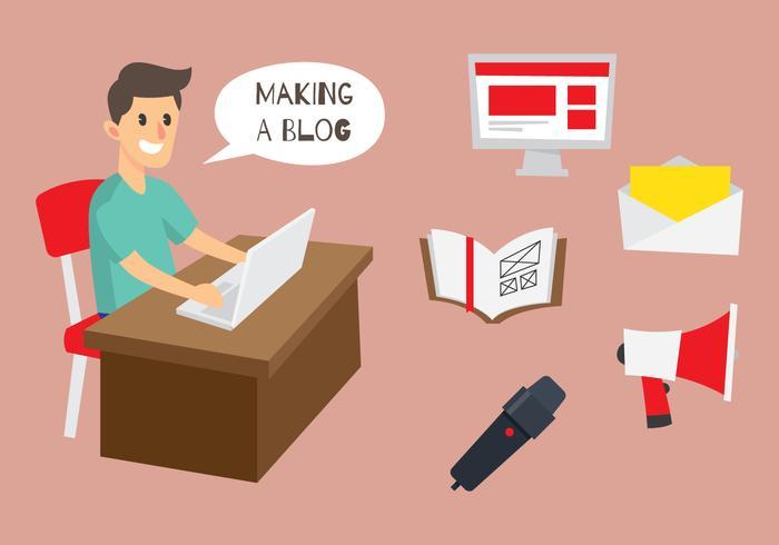 Blogger Illustration Et Icône vecteur