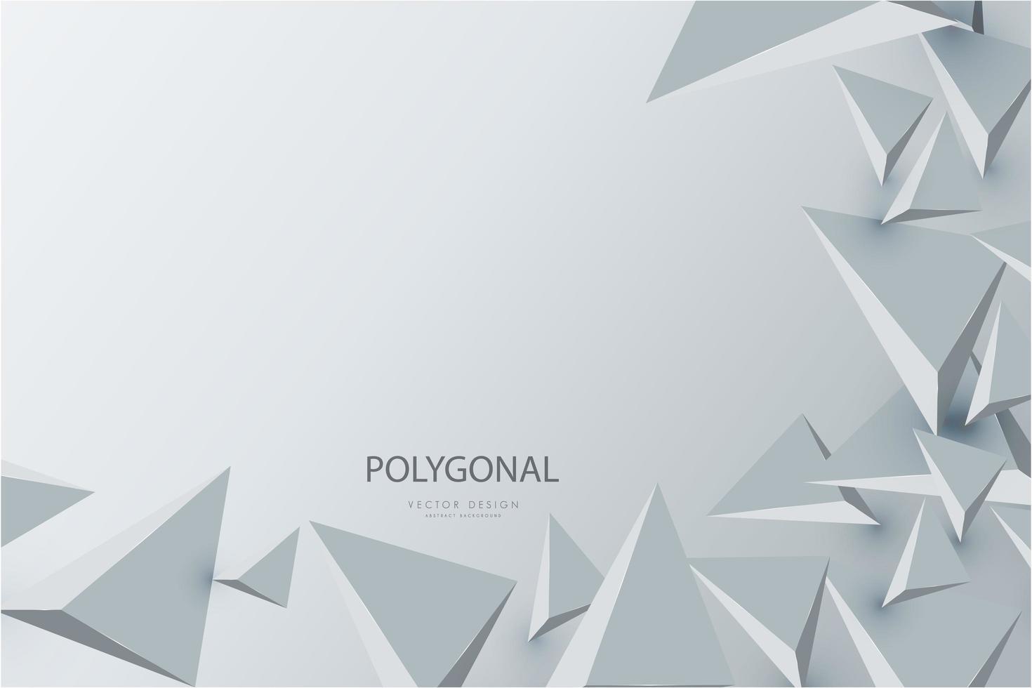 design moderne de triangles 3d gris. vecteur
