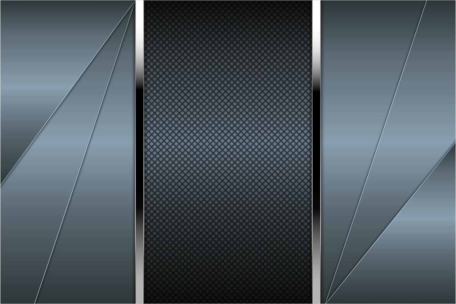 panneaux coudés bleu métallique avec texture en fibre de carbone vecteur